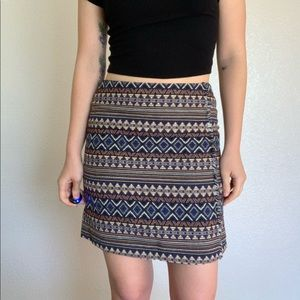 Dresses & Skirts - Tribal Aztec Print Woven Skirt